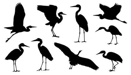 heron silhouettes