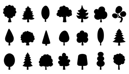 tree funny silhouettes