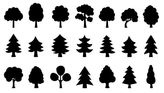 tree simple silhouettes