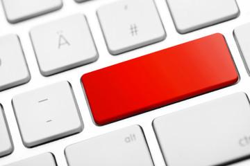 Tastatur Taste Vorlage rot leer