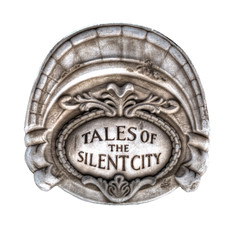 Tales of the Silent City isolated on white background, sandstone