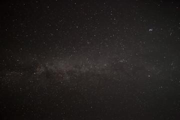 Starry Night Sky with Milki way galaxy
