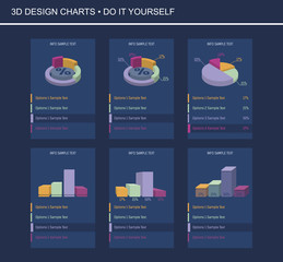 Obraz 3D Design Charts - fototapety do salonu
