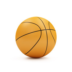 Orange Basketball ball Isolated on white background. Sport and Recreation Concept
