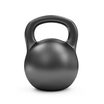Iron Dumbbell Isolated on white background. Sport and Recreation Concept.