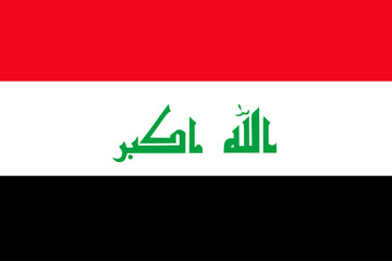 flag of Iraq. vector.