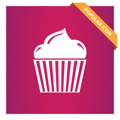 Cupcake sign icon for web and mobile.