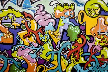 Fond peinture colorée