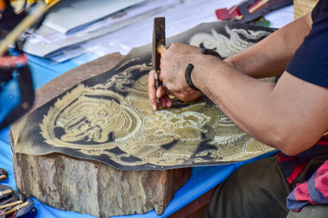 hand making shadow play, Thailand