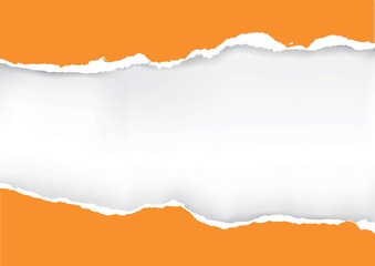 Orange ripped paper.