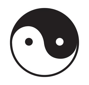 Ying and yang vector icon.