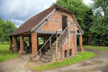 Timber-frame and brick granary, England