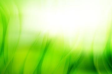 Abstract grass background for design. Modern floral wave bright digital illustration.