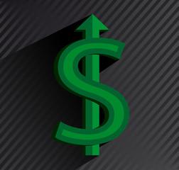 Green dollar sign.