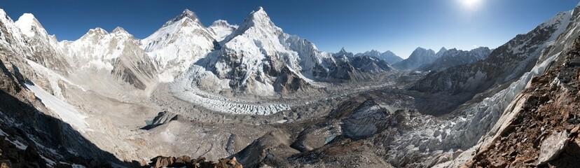 Mount Everest, Lhotse and nuptse