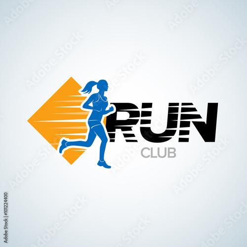 run club logo template sport logotype template sports club