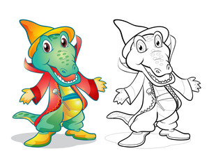 Fantasy mascot crocodile cartoon