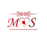 Ms Love Initial With Red Heart And Rose Stock Image And Royalty Pic