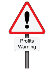 Profits Warning traffic sign