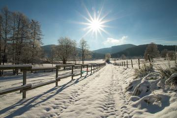 Winterwanderweg im Sauerland