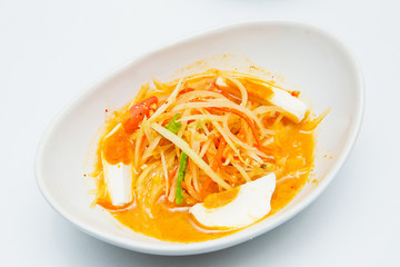 Thai papaya  egg salad salted