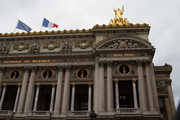 Building of the National academy of music and Grand opera in Paris