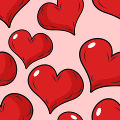 Love seamless pattern for Valentines day. Background for holiday