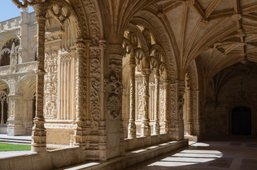 Cloister of Jeronomos monastery. Lisbon