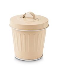 Small and cute metallic trash bin