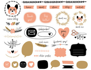 Blog Kit Design Elements Collection