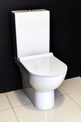 new modern white toilet