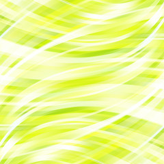Abstract green background with smooth lines.