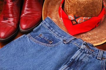 Hat Jeans & Boots
