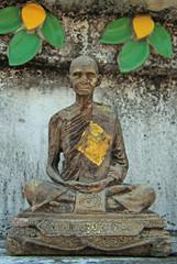 statue of meditating monk, Bangkok