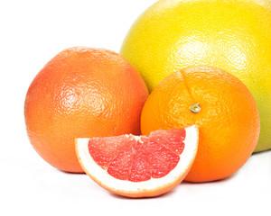 Pomelo, grapefruit, orange, tangerine