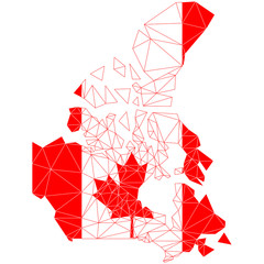 Canada map and flag / Канада карта и флаг