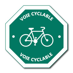 Logo piste cyclable.