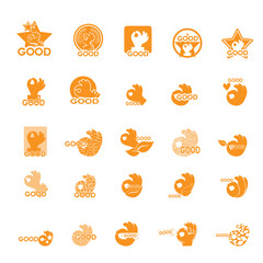 Ok Hand Icons Set - Isolated On White Background - Vector Illustration, Graphic Design, Editable For Your Design