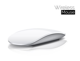 Wireless Mouse isolated on White