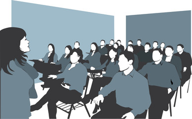 Lecture in classroom
