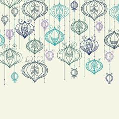 Vector illustration with Celebratory lanterns