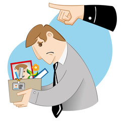 Executive professional person Illustration being dismissed, sent away