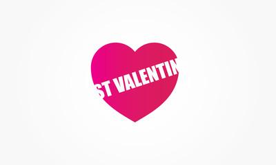 St Valentin coeur rose