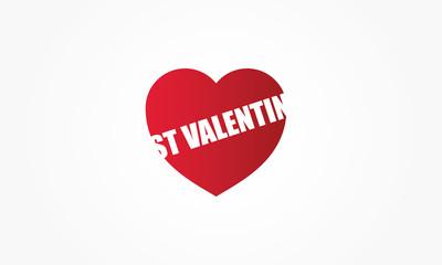 St Valentin coeur rouge