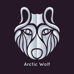 arctic wolf logo vector