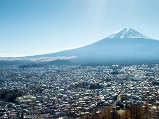 Fuji mountain with cityscape view