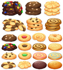 Different kind of cookies