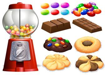 Candy machine and chocolate bars