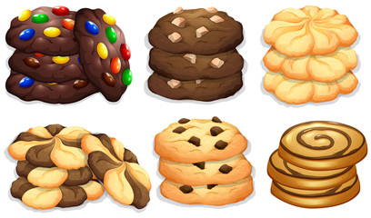 Different flavour of cookies