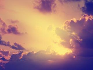 dramatic retro sky